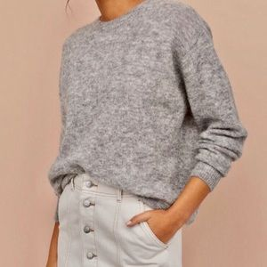 & Other Stories Fuzzy Mohair Wool Sweater